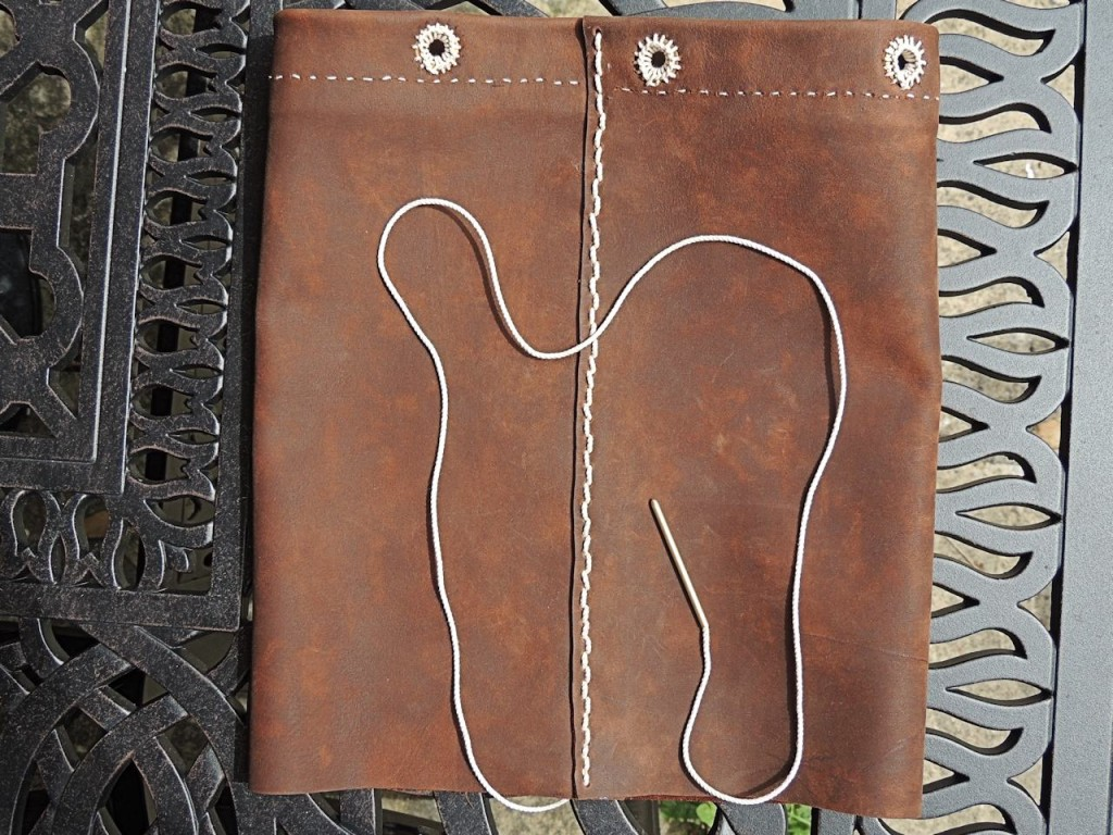 Brown Leather Ditty Bag