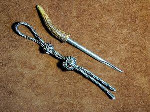 Bosun's Whistle Lanyard Knot Keyring