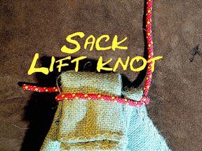 Sack Lift Knot Sack Knot